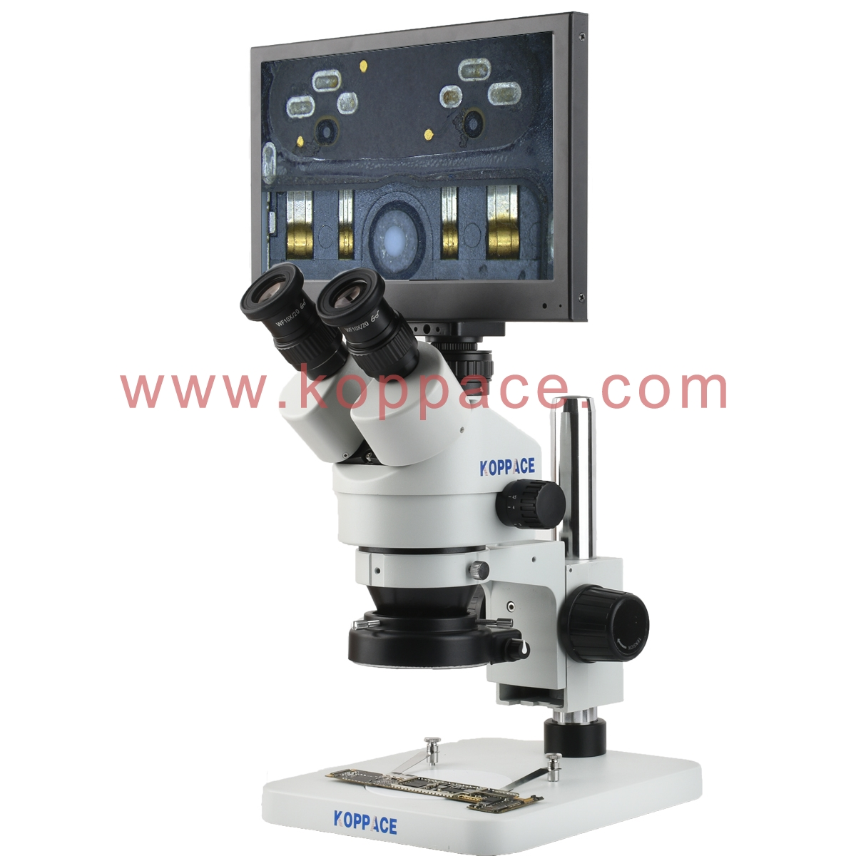 KOPPACE 20X-200X,HD Measuring Electron Microscope,High-Speed 60-Frame,Can Take Pictures and Video to Save Forms,Universal Cross arm Bracket