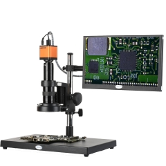 KOPPACE 17X-108X 16MP Full HD 1080P HDMI HD Industry Microscope for Phone PCB Repair Microscope 13.3 inch display screen