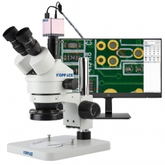 KOPPACE 3.5X-180X 2 Million Pixels Trinocular Stereo Electronic Measuring Microscope HD 1080P 60FPS HDMI Industry Microscope