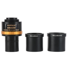 KOPPACE Adjustable Focus Industrial Camera Adapter 0.5X Microscope Electronic Eyepiece 23.2mm To 30mm & 30.5mm Interface