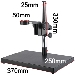 KOPPACE Large Platform Microscope Stand Column Diameter 25mm Lens Size 50mm Including Focus Bracket Base Plate Size 370X250mm