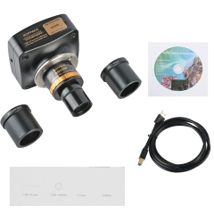 KOPPCE Microscope Camera 3 MP USB3.0 Adjustable Focus 0.5X Industrial Camera Electronic Eyepiece 23.2mm To 30mm Und 30.5mm