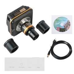 KOPPCE 10MP Microscope Camera USB3.0 Adjustable Focus 0.5X Industrial Camera Electronic Eyepiece 23.2mm To 30mm Und 30.5mm