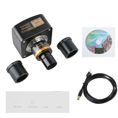KOPPCE 18 MP Microscope Camera USB3.0 Adjustable Focus 0.5X Industrial Camera Electronic Eyepiece 23.2mm to 30mm Und 30.5mm