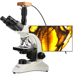 KOPPACE 40X-1600X HDMI HD Trinocular Biological Microscope can take Pictures Videos Compound Biological Electron Microscope