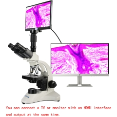 KOPPACE 40X-1600X Trinocular Biological Microscope 11.6-inch Display Can Take Pictures Videos Compound Lab Microscope