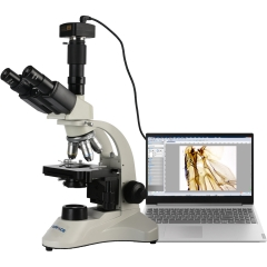 KOPPACE 40X-1600X Trinocular Biological Microscope 5MP USB2.0 Camera Can Take Pictures Videos Measurements Biological Microscope