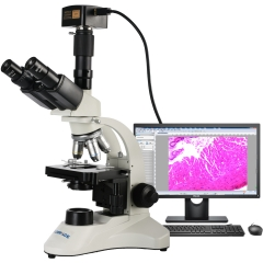 KOPPACE 40X-1600X Research-Grade Trinocular Compound Lab Microscope 18 Million Pixels USB3.0 Electronic Biological Microscope
