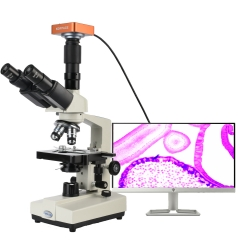 KOPPACE 40X-1600X HDMI Biological Microscope Take Pictures Videos and Biological Electron Compound Microscope