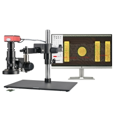 KOPPACE 20X-200X 2K HDMI Measuring Electron Microscope Cross arm Bracket Can Take Pictures Video to Save Form Measuring Data