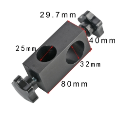 KOPPACE Microscope Universal Bracket Fixed Block 25mm and 32mm Column aperture Electron Microscope Bracket adapter Ring