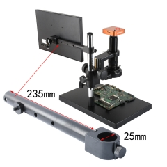KOPPACE Video Microscope Special Bracket Display Hanging rod 25mm interface Bar length 235mm