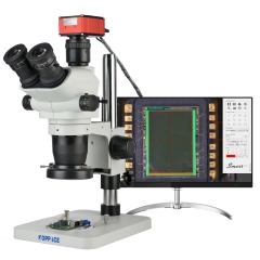 KOPPACE 3.35X-90X 8.3 Million Pixels 4K Measurement Microscope Can Take Pictures and Videos Export Measurement Data Table