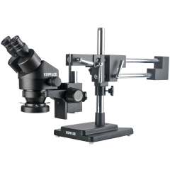 KOPPACE 3.5X-90X Binocular Stereo Microscope Double-Arm Boom Stand Mobile Phone Repair Microscope 144 LED Ring Light