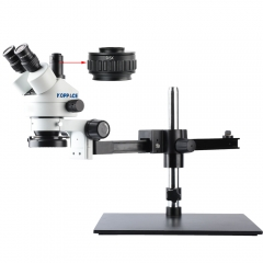 KOPPACE 3.5X-90X Trinocular Stereo Microscope Continuous Zoom Lens Sliding Bracket Mobile Phone Repair Microscope