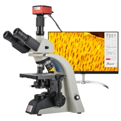 KOPPACE 40X-1600X Research-Grade Trinocular Compound Lab Microscope 4K 8.3 MP Measuring Electronic Biological Microscope