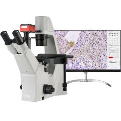 KOPPACE 100X-400X 4K 8.3 MP Research-Grade Trinocular Inverted Compound Lab Microscope Phase Contrast Biological Microscope