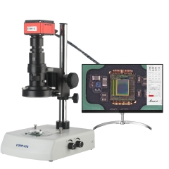 KOPPACE 33X-240X Electron Microscope 4K HD Camera Take Pictures and Measure Continuous Zoom Lens up and Down LED Light Source