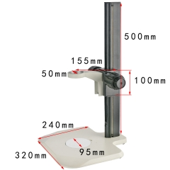 KOPPACE Microscope Bracket lens Diameter 50mm Microscope Focusing Bracket 400mm Working Stroke