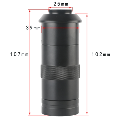 KOPPACE Single-Tube Industrial Digital Microscope Lens 100 Times Magnification High-Definition Imaging Standard C Interface