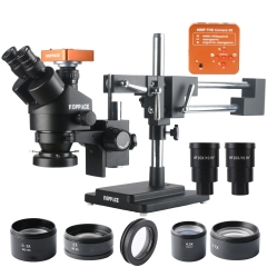 KOPPACE 2.1X-180X Trinocular Stereo Microscope Black 40 Million Pixels industrial Microscope Camera Mobile Phone Repair Microscope